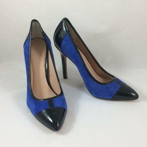 BCBGenerations Blue Suede Stilettos